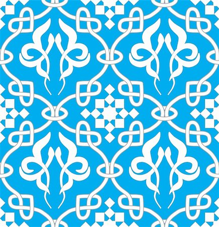 filigree - Retro seamless background. Vintage keltik Irish wallpaper. Texture vector illustration. Pattern celtic style. Stock Photo - Budget Royalty-Free & Subscription, Code: 400-05901952