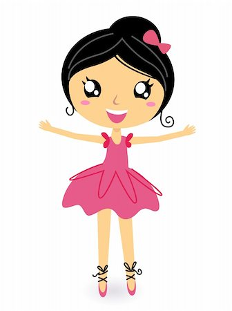 pretty in black clipart - Cute ballet dancer girl. Vector cartoon Illustration Stock Photo - Budget Royalty-Free & Subscription, Code: 400-05902040