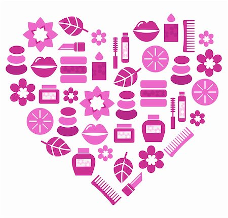 Stylized pink heart. Vector illustration. Stock Photo - Budget Royalty-Free & Subscription, Code: 400-05902043