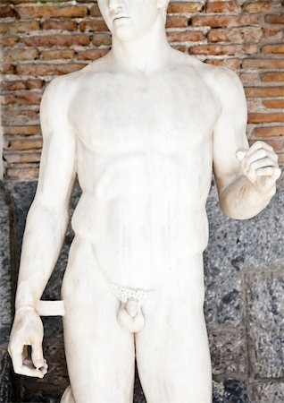 Greek statue in an Italian museum, original (more than 1700 years old) Stock Photo - Budget Royalty-Free & Subscription, Code: 400-05902848