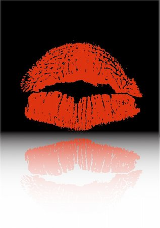 the vector red lips Stock Photo - Budget Royalty-Free & Subscription, Code: 400-05914881