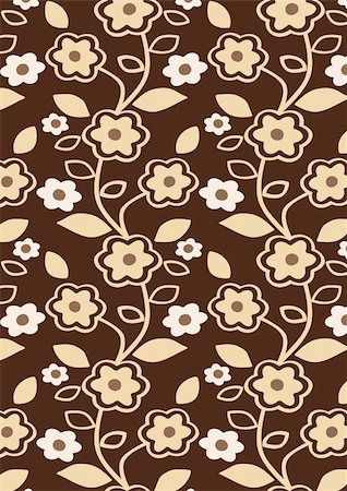 simsearch:400-04744132,k - Autumn Flowers Pattern - Seamless abstract floral background - vector include pattern source - easy to modify Stock Photo - Budget Royalty-Free & Subscription, Code: 400-05915468