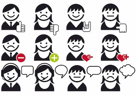 avatar people faces with symbols, vector icon set Stock Photo - Budget Royalty-Free & Subscription, Code: 400-05915918
