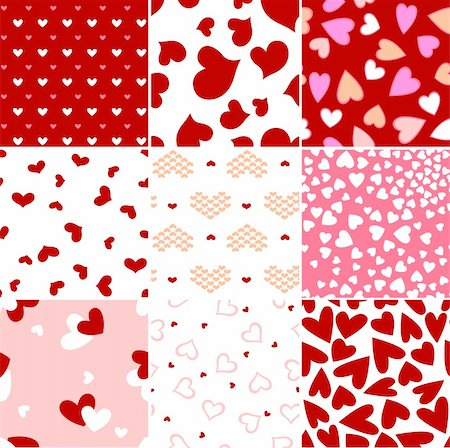 simsearch:400-04597082,k - valentine heart seamless pattern Stock Photo - Budget Royalty-Free & Subscription, Code: 400-05917459