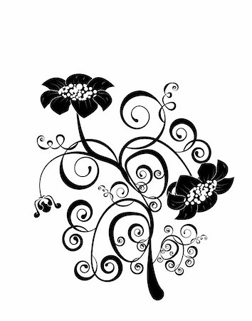 simsearch:400-04367215,k - vector flower pattern isoleted on a white background Stock Photo - Budget Royalty-Free & Subscription, Code: 400-05917666