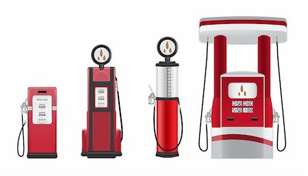 scalable - gasoline pumps vector illustration Stock Photo - Budget Royalty-Free & Subscription, Code: 400-05919558