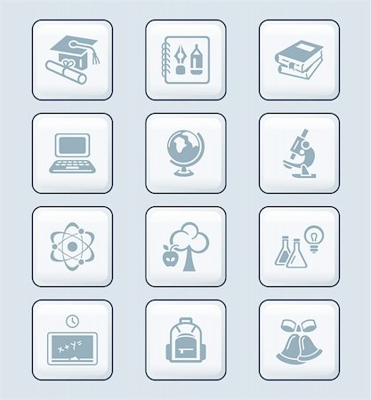 School and college education objects; tools and science symbols Stock Photo - Budget Royalty-Free & Subscription, Code: 400-05919672
