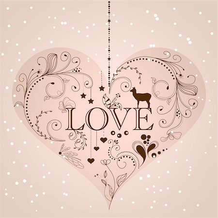 Vintage heart shape Stock Photo - Budget Royalty-Free & Subscription, Code: 400-05910693