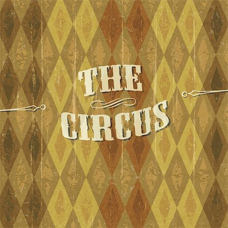 """""""Diamond"""" patterned circus background with the design of """"The Circus"""" header. Vecor illustration, EPS10 Stock Photo - Budget Royalty-Free & Subscription, Code: 400-05911359"""