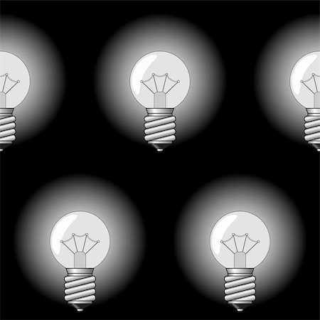 Black-and-white abstract background with electrical a sphere-form lamps for your design. Seamless pattern. Vector illustration. Stock Photo - Budget Royalty-Free & Subscription, Code: 400-05911430