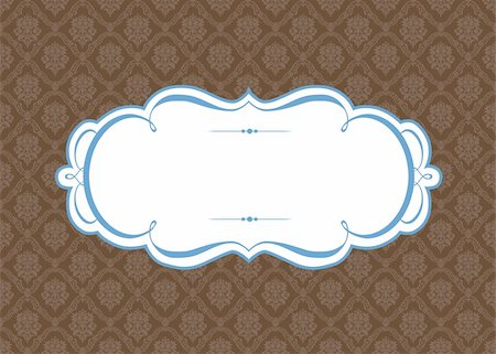 Vector Ornate Frame and Wood Background. Easy to edit. Perfect for invitations or announcements. Stock Photo - Budget Royalty-Free & Subscription, Code: 400-05926814