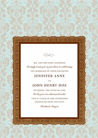 Vector Extra Ornate Frame and Pattern. Easy to edit. Perfect for invitations or announcements. Stock Photo - Budget Royalty-Free & Subscription, Code: 400-05926811