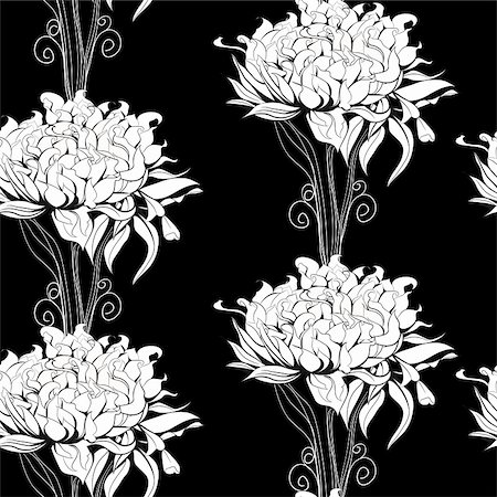 peony design vector - Floral seamless pattern with paeony flowers Stock Photo - Budget Royalty-Free & Subscription, Code: 400-05920058
