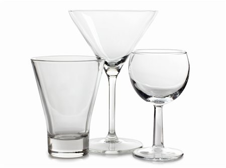 Color photograph of empty glasses of wine Stock Photo - Budget Royalty-Free & Subscription, Code: 400-05920236