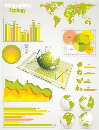 report icon - ecology info graphics collection Stock Photo - Budget Royalty-Free & Subscription, Code: 400-05920387