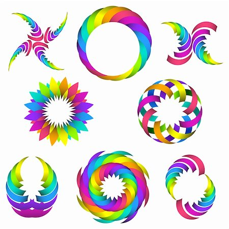vector illustration of rainbow logo and icon set for your design Stock Photo - Budget Royalty-Free & Subscription, Code: 400-05920391