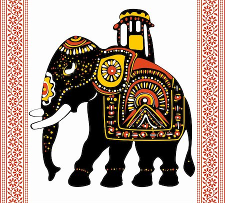 Vector of Festive indian elephant Stock Photo - Budget Royalty-Free & Subscription, Code: 400-05920765