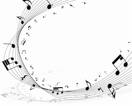 Vector musical notes staff background for design use Stock Photo - Budget Royalty-Free & Subscription, Code: 400-05920893
