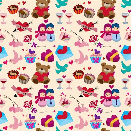seamless Valentine's Day pattern Stock Photo - Budget Royalty-Free & Subscription, Code: 400-05923898
