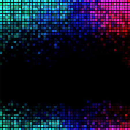 fun happy colorful background images - Multicolor abstract lights disco background. Square pixel mosaic vector Stock Photo - Budget Royalty-Free & Subscription, Code: 400-05923920