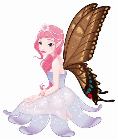 Young fairy. Funny cartoon and vector isolated character. Stock Photo - Budget Royalty-Free & Subscription, Code: 400-05946914