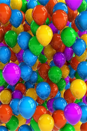 fun happy colorful background images - Colorful party balloon background with dozens of balloons Stock Photo - Budget Royalty-Free & Subscription, Code: 400-06064335