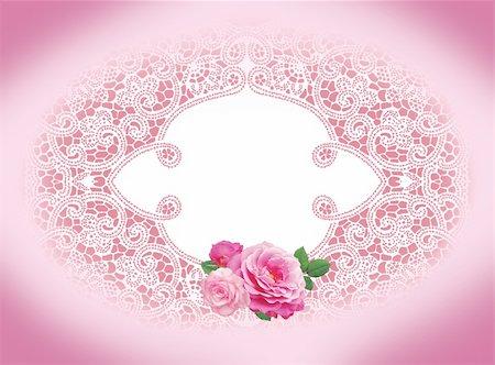 decoration wedding rose vintage - invitation card with vintage frame rose Stock Photo - Budget Royalty-Free & Subscription, Code: 400-06064758