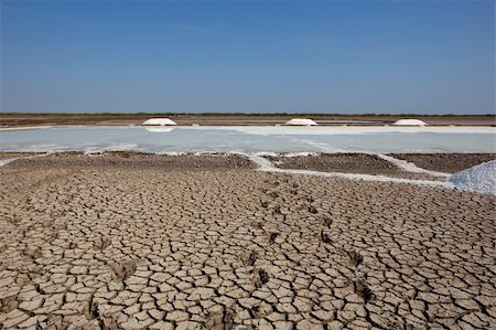salt pans on the little rann of kutch in gujarat india Stock Photo - Budget Royalty-Free & Subscription, Code: 400-06064762