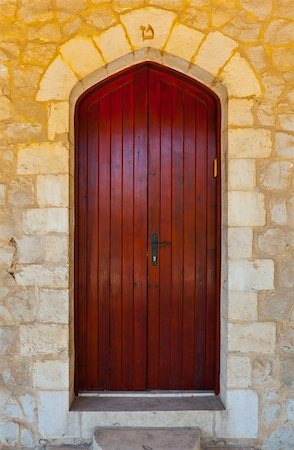 Close-up Image of  Wooden Ancient Israel Door Stock Photo - Budget Royalty-Free & Subscription, Code: 400-06065386