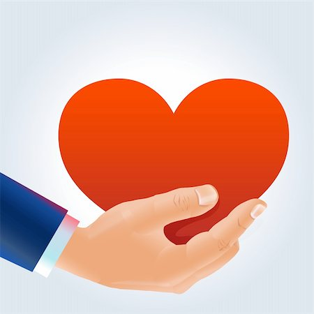simsearch:400-04863562,k - Man's hand holding deep red heart in a proposal way Stock Photo - Budget Royalty-Free & Subscription, Code: 400-06066270