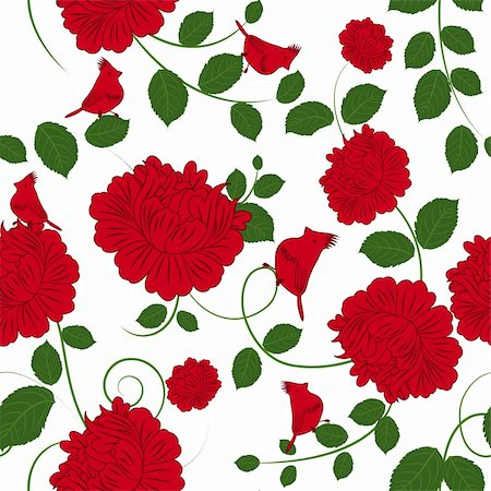 simsearch:400-04765926,k - Seamless vector floral pattern. For easy making seamless pattern just drag all group into swatches bar, and use it for filling any contours. Stock Photo - Budget Royalty-Free & Subscription, Code: 400-06066420