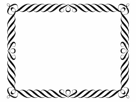Vector calligraphy penmanship ornamental deco frame pattern Stock Photo - Budget Royalty-Free & Subscription, Code: 400-06066436