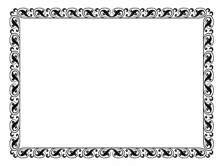 Vector simple calligraph ornamental decorative frame pattern Stock Photo - Budget Royalty-Free & Subscription, Code: 400-06066443