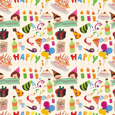 party celebration paper confetti - seamless birthday pattern Stock Photo - Budget Royalty-Free & Subscription, Code: 400-06066526