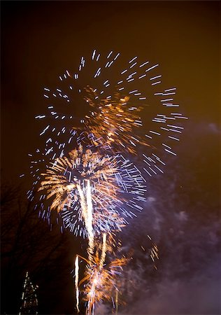 Salute Fireworks Stock Photo - Budget Royalty-Free & Subscription, Code: 400-06066669
