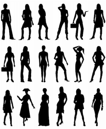 simsearch:400-04096935,k - Vector Illustration of People Silhouettes 2. Business, Casual and Formal. Stock Photo - Budget Royalty-Free & Subscription, Code: 400-06067395