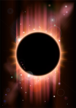A futuristic ascience fiction eclipse background concept Stock Photo - Budget Royalty-Free & Subscription, Code: 400-06068593