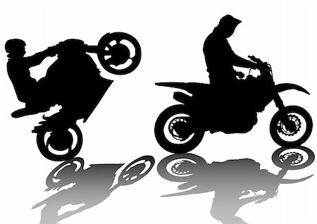 Vector drawing a extreme road motorcycle Stock Photo - Budget Royalty-Free & Subscription, Code: 400-06069162