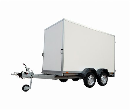 car trailer, isolated on white background Stock Photo - Budget Royalty-Free & Subscription, Code: 400-06069419