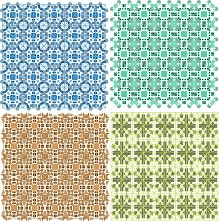 Vintage old plaid abstract patterns set vector design Stock Photo - Budget Royalty-Free & Subscription, Code: 400-06069478