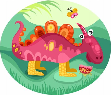 vector illustration of a cute dragon Stock Photo - Budget Royalty-Free & Subscription, Code: 400-06069787