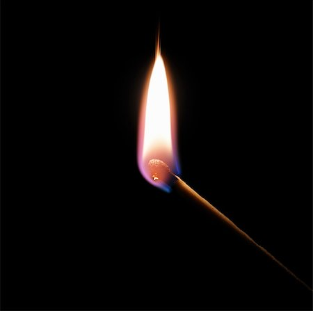 match bursting into flame against a black background Stock Photo - Budget Royalty-Free & Subscription, Code: 400-06061876