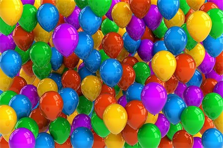 fun happy colorful background images - Colorful party balloon background with dozens of balloons Stock Photo - Budget Royalty-Free & Subscription, Code: 400-06063036