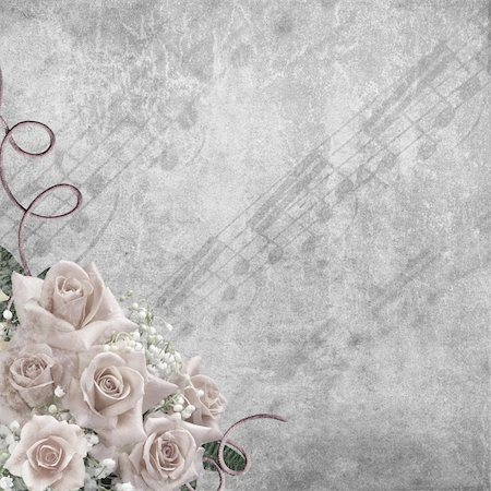 Wedding vintage romantic background with roses Stock Photo - Budget Royalty-Free & Subscription, Code: 400-06063394