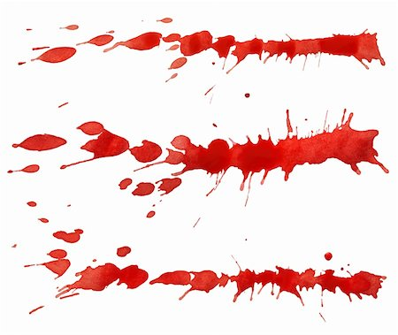 Red paint splashes isolated on white background Stock Photo - Budget Royalty-Free & Subscription, Code: 400-06063946