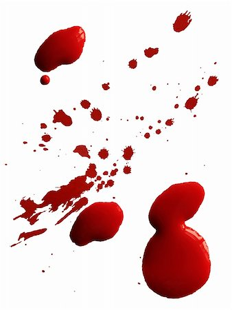 dripping blood - Drop of red blood isolated on white background Stock Photo - Budget Royalty-Free & Subscription, Code: 400-06075284