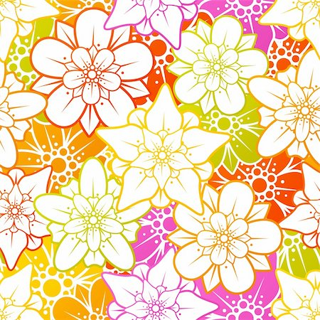 Vector flower seamless background Stock Photo - Budget Royalty-Free & Subscription, Code: 400-06075514
