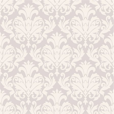 seamless damask background Stock Photo - Budget Royalty-Free & Subscription, Code: 400-06076488
