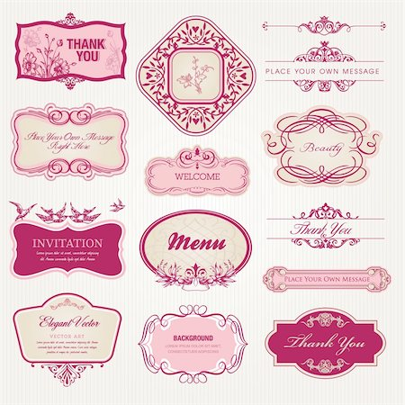 Set of vintage labels and stickers Stock Photo - Budget Royalty-Free & Subscription, Code: 400-06076577