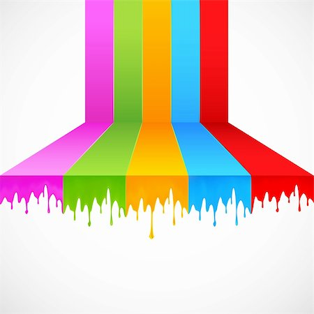 dripping colour art - illustration of multicolor paint dripping on abstract background Stock Photo - Budget Royalty-Free & Subscription, Code: 400-06078836